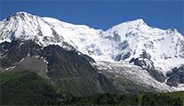 Aiguille du Gouter, Aiguille du Bionnassy and Glacier du Bionnassy